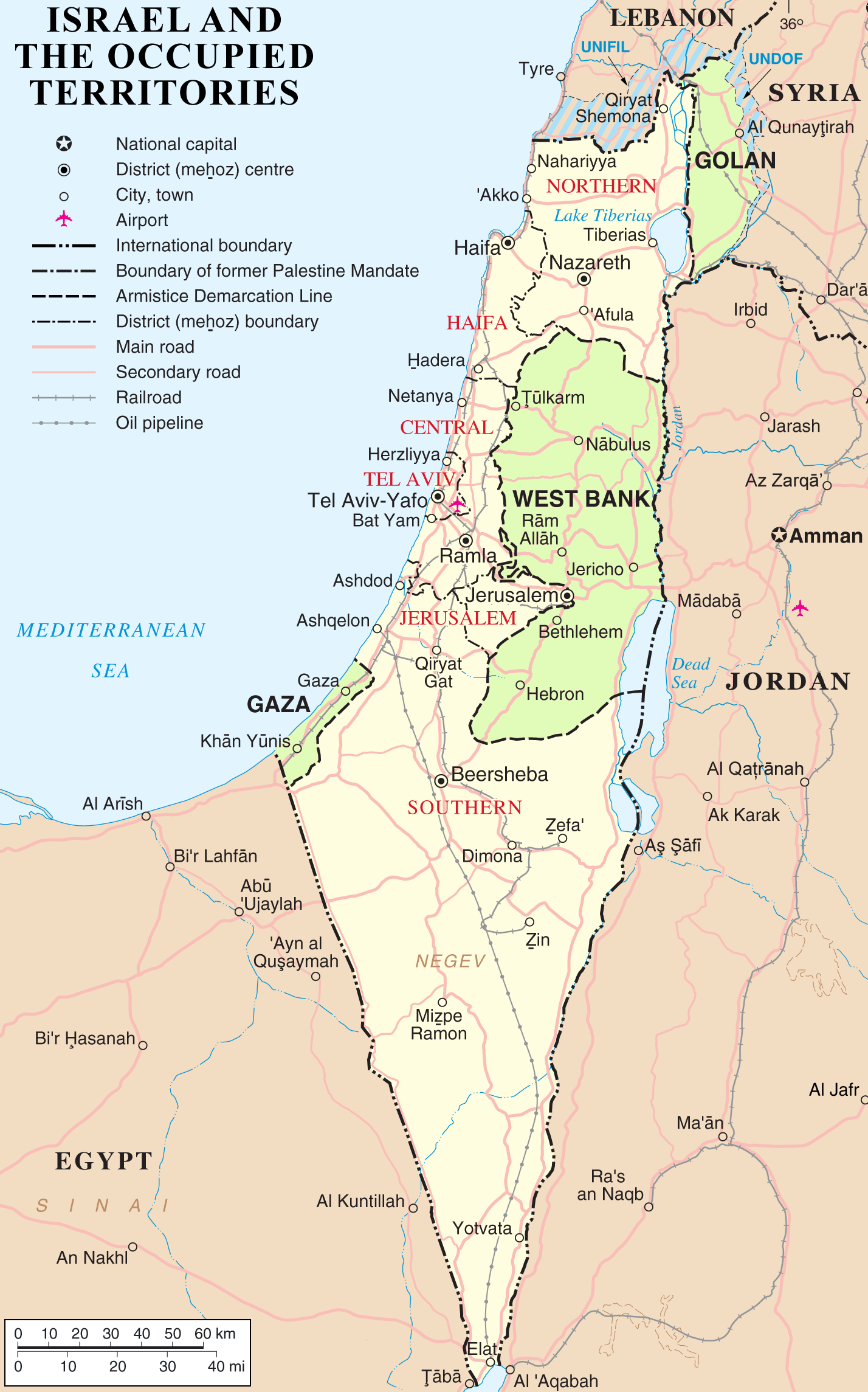 Maps: 1967 to present - Palestine Portal
